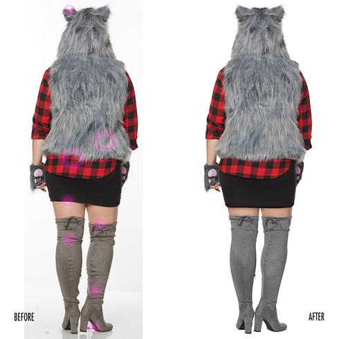 Spencer Gifts-Spirit Halloween: Female Wolf Vest Costume