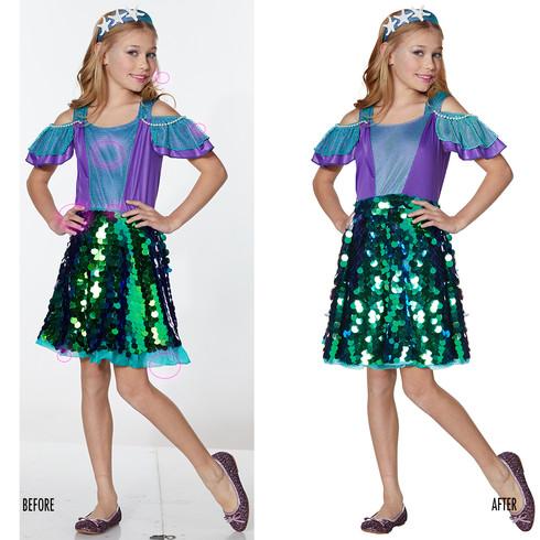 Spencer Gifts-Spirit Halloween: Mermaid Dress Costume