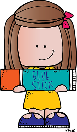 girl w glue stick BHSS (c) Melonheadz Il