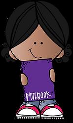 girl w notebook BHSS (c) Melonheadz Illu