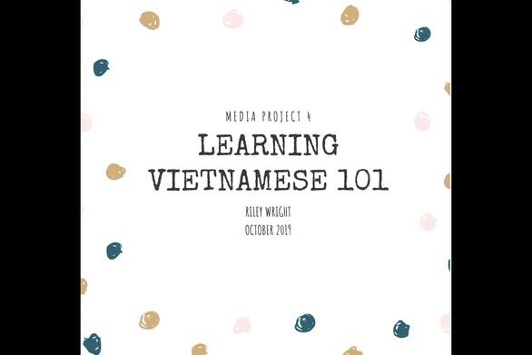 Learning Vietnamese 101