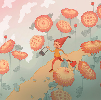 Just a Wisp of the Sunflower Pies, Cheery Eyes, and Pink Skies Ahead
