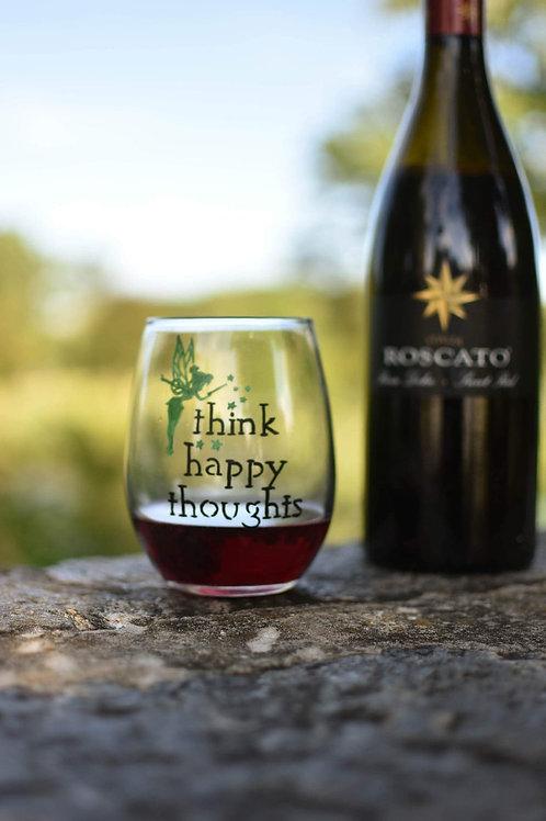 Tinker Bell Inspired Wine Glass