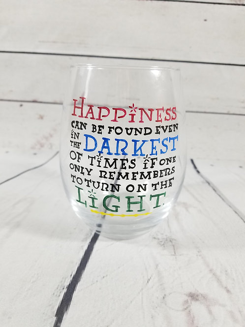 Harry Potter Quote Glass