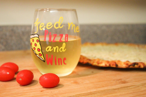 Pizza & Wine Glass