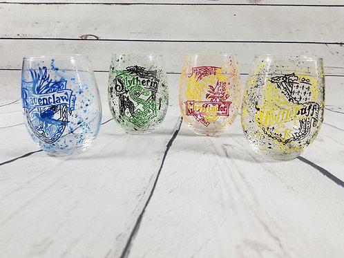 Paint Splatter Hogwarts House Cup