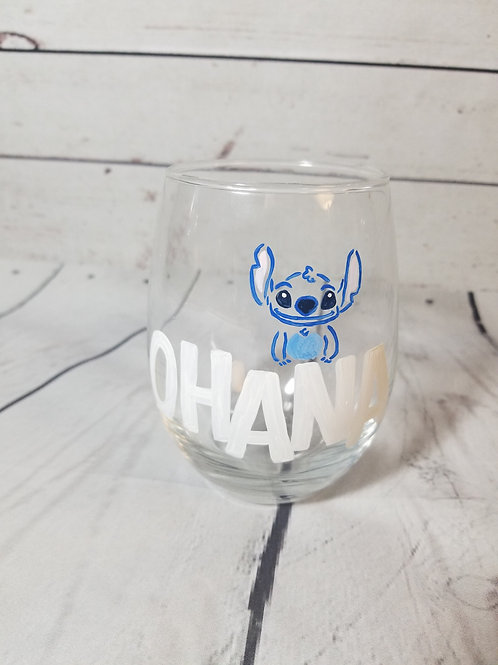 Stitch Wine Glass