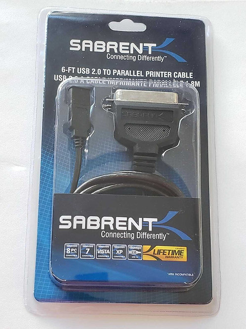 Sabrent 6ft usb 2.0 parallel printer cable IN-BOX NEW