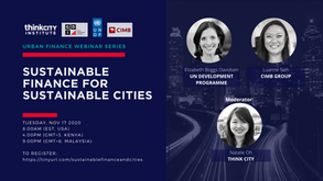 Urban Finance Webinar 5- Sustainable Finance for Sustainable Cities