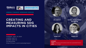 Urban Finance Webinar 4- Creating and Measuring SDG Impact in Cities