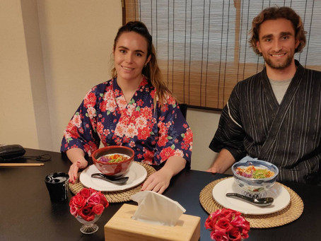 "Yesterday ,we had our customers from Australia. It was  ""Vegan Ramen from Scratch"". Thank you very m"
