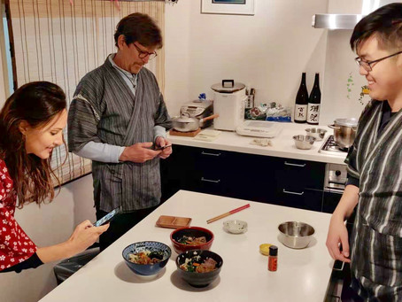 """This morning,we had our customers from Portugal🇵🇹& Canada🇨🇦. It was """"Udon cooking activity f"""