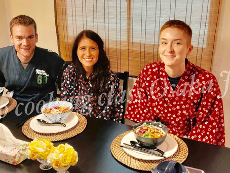 """Last Sunday,we had our customers from Australia🇦🇺,England🇬🇧.It was """"Vegan Ramen from Scratch"""".Th"""