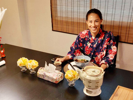 """This morning,we had our customerfrom USA🇺🇸. It was """"Udon cooking activity from scratch with Wagyu"""