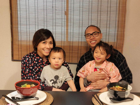 """This morning,we had our customers from USA. It was """"Udon cooking activity from scratch with Wagyu Be"""