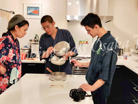 "This morning,we had our customers from Canada🇨🇦. It was ""Udon cooking activity from scratch with W"