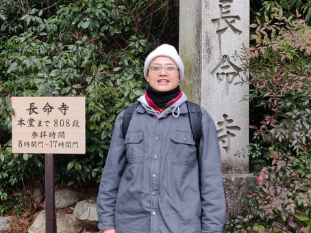 Yesterday We claimed 808 stairs to reach the top of the Cyoumeiji Temple. It is really aquiet and a