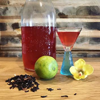 Hibiscus-Lime Water Kefir