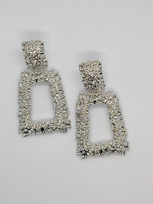 Show Stopper Earrings-Gold & Silvertone