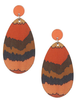 CHUNKY WOODEN EARRING