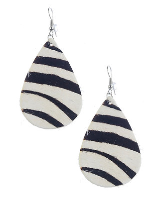 Animal Print Fish Hook Earrings