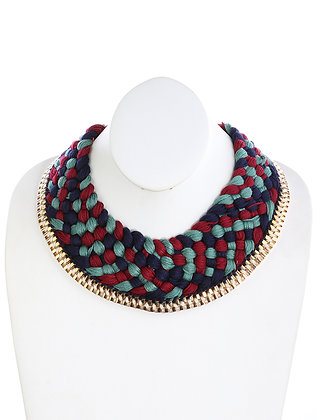 YARN KNITING SCARF NECKLACE