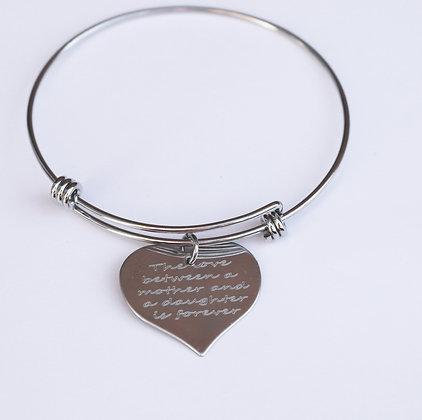 Mother & Daughter is forever heart bracelet