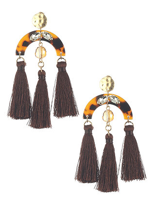 Tassel Marble Finish Earring