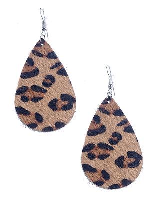 Animal Print Fish Hook Earrings