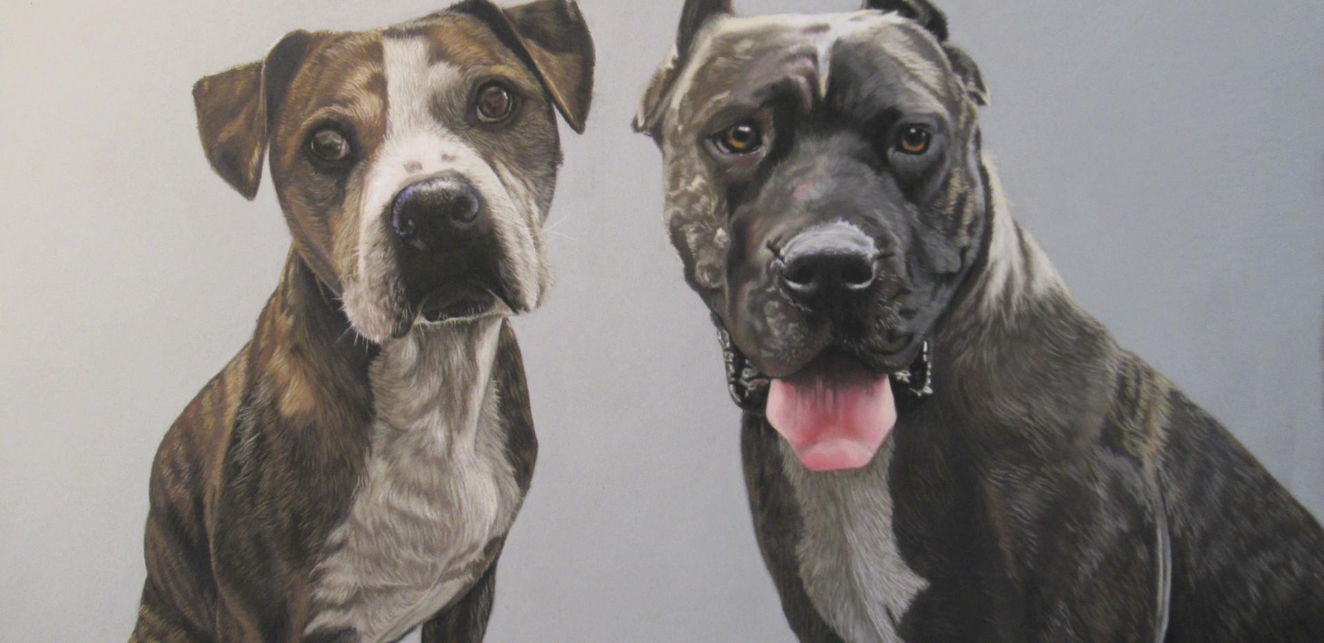 Dre and Angel. Pastel portrait