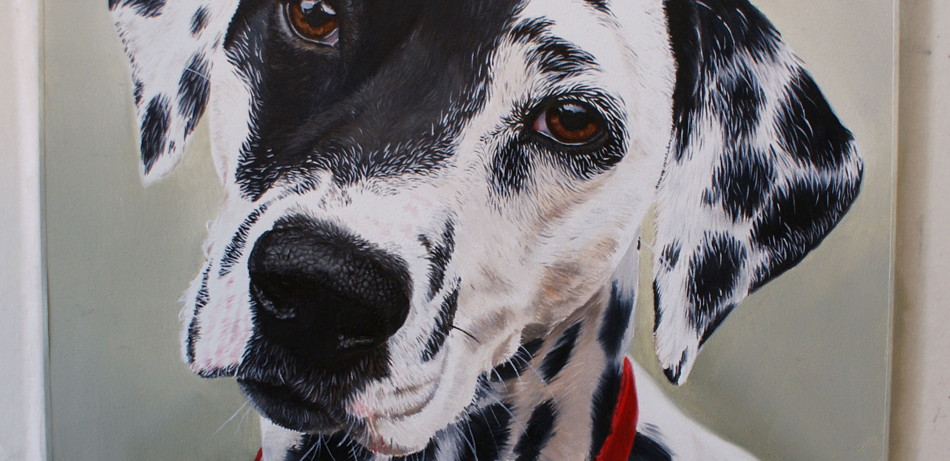 Small oil painting of Lola, Dalmatian