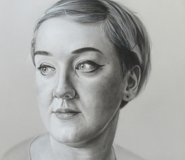 Polly. Charcoal on paper