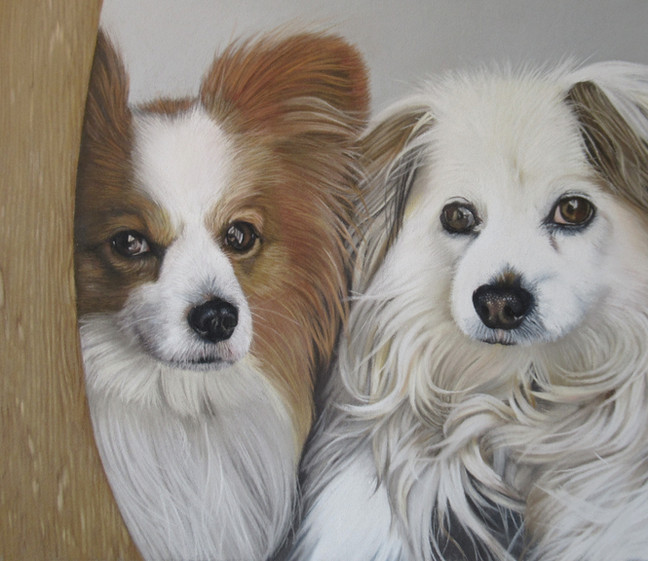 Duke and Eva. Pastel portrait 2020
