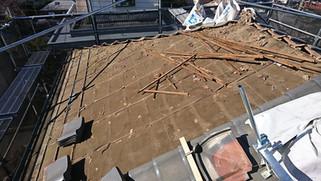 台風後の屋根修理工事