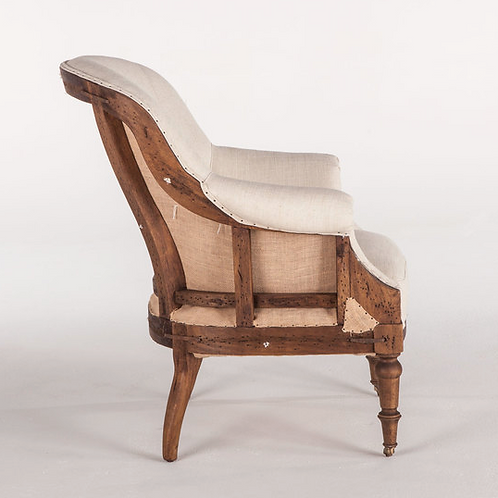 Mulberry Reading Chair - Off White Linen