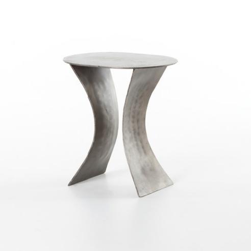 Luna Side Table -Antique Nickel