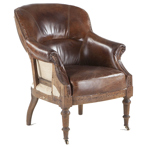Mulberry Reading Chair - Brown Leather