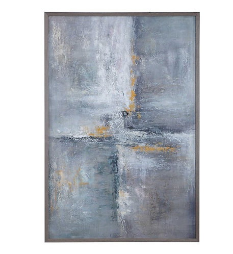 """42"""" x 62"""" Hand Painted Canvas - Gray"""