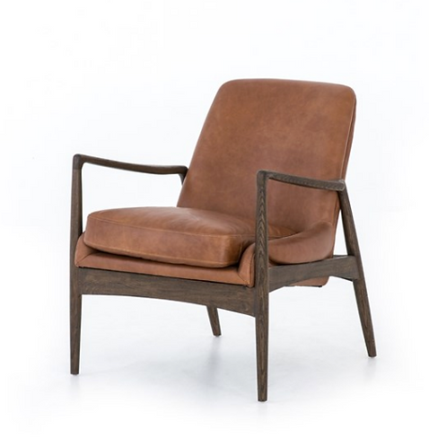 Draper Accent Chair - Brown Leather
