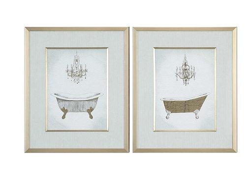 Bath Framed Prints (Set of 2)