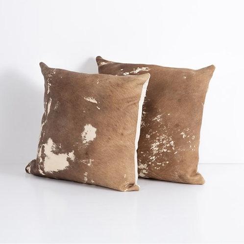 Hide Pillow - Dark Brown (Set of 2)
