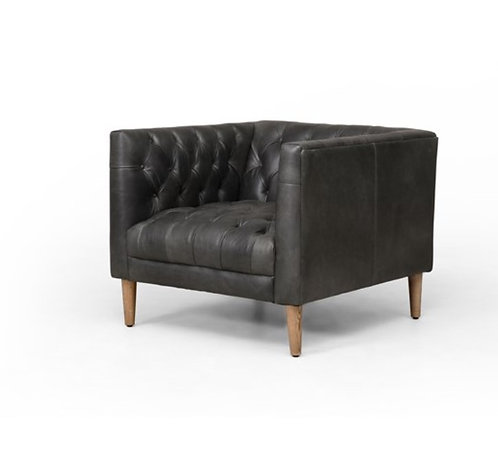 Charles Lane Leather Chair - Black