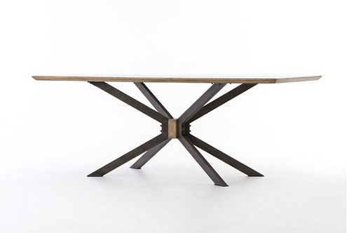 """Brass Top Graz Dining Table - 79""""or 94"""""""
