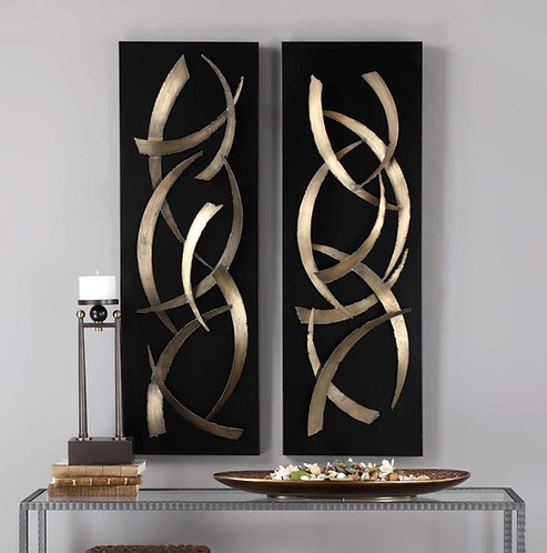 Metal Art Panels (Set of 2)