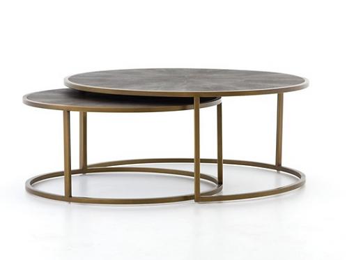 Essex Nesting Coffee Table - Brass