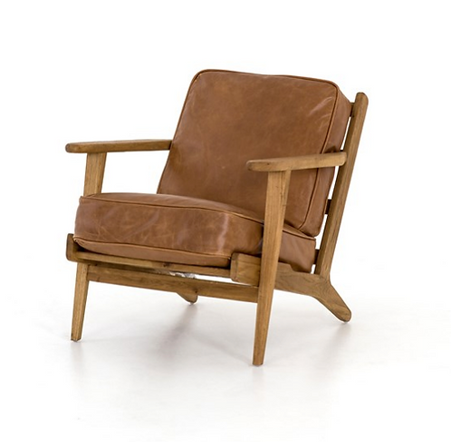 Wasatch Lounge Chair - Saddle Brown