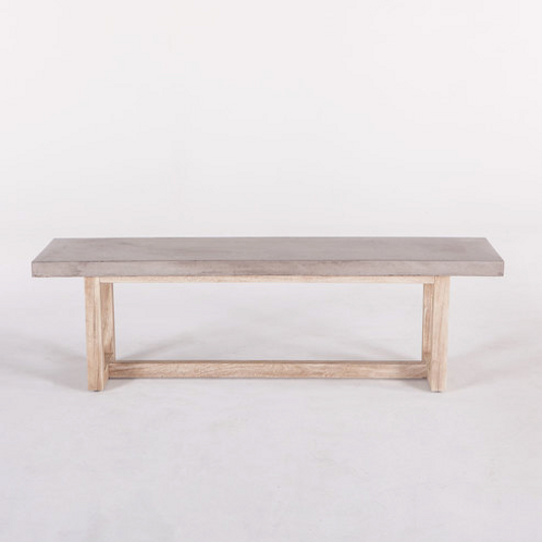 Whitney Concrete Top Dining Bench