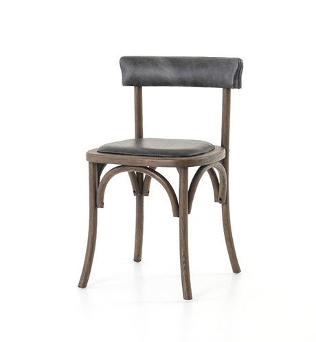 Lund Dining Chair - Black Leather
