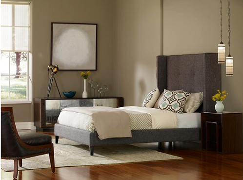 Warren Bed - Grey Charcoal