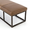 Thumbnail: Driggs Leather Bench - Brown